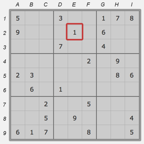 Cell of sudoku field